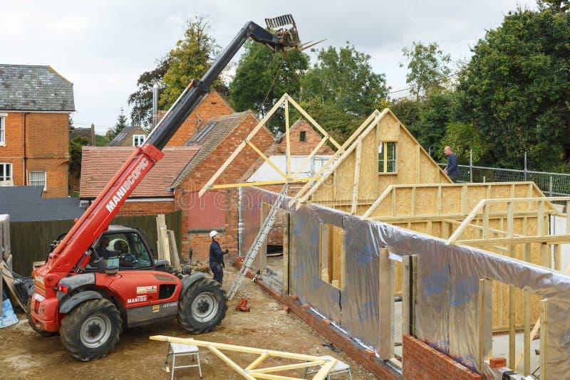 Huisbouwwerf stock foto's