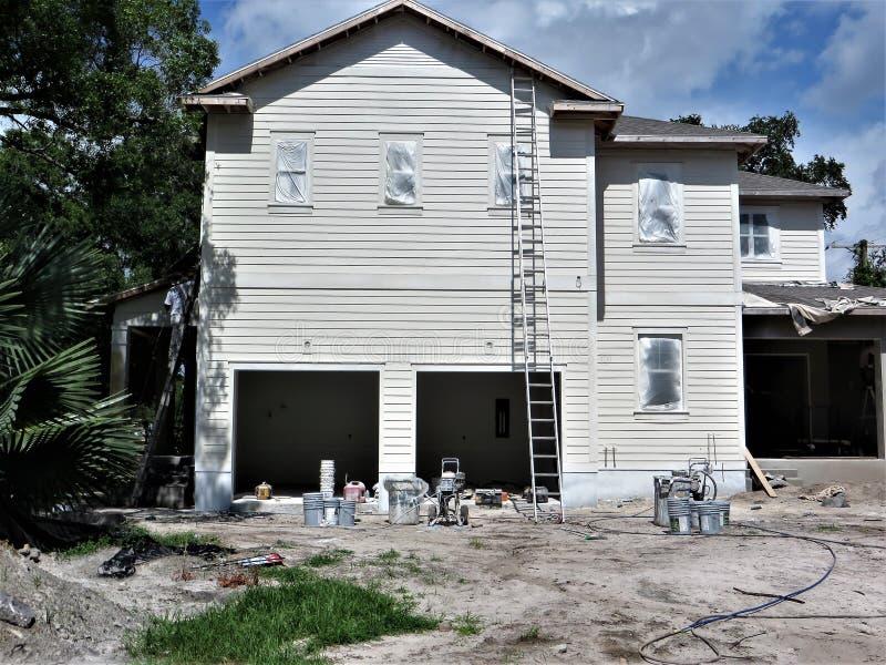 Huisbouwwerf, Tamper stock foto's