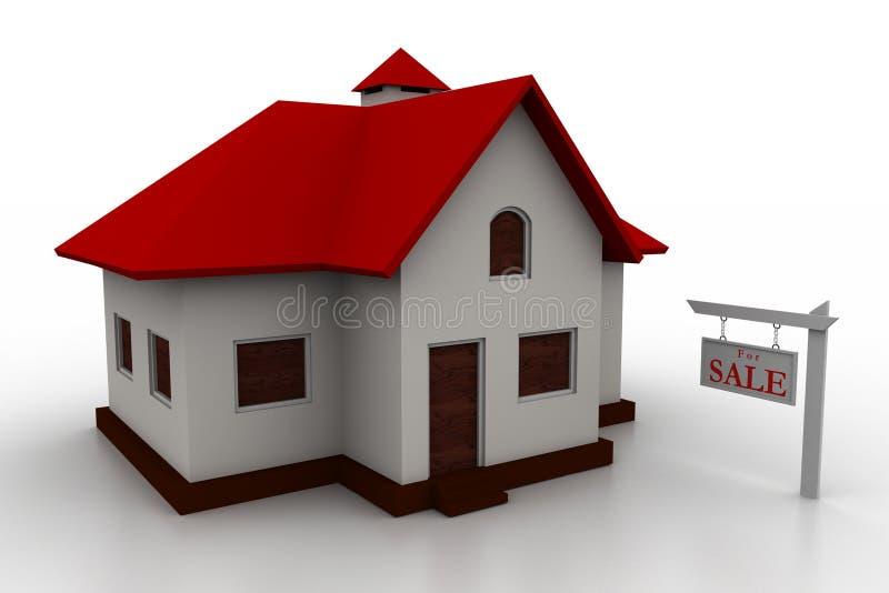 Huisconcept stock illustratie
