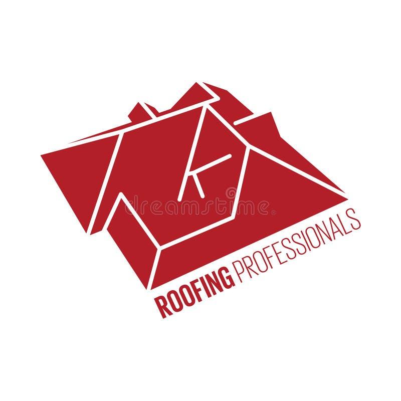 Huisdak logotype of teken royalty-vrije illustratie