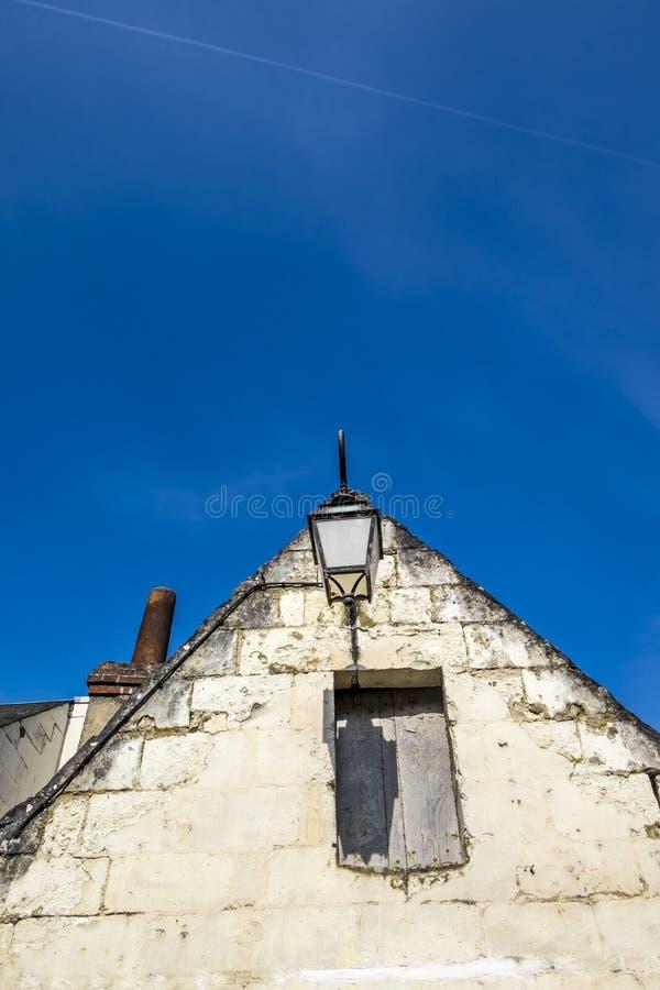 Huisdetail in de Loire-Vallei stock afbeeldingen