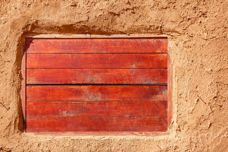 Huisdetail in vesting Ait Ben Haddou royalty-vrije stock afbeelding