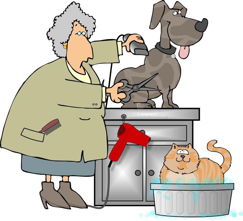 Huisdier Groomer stock illustratie