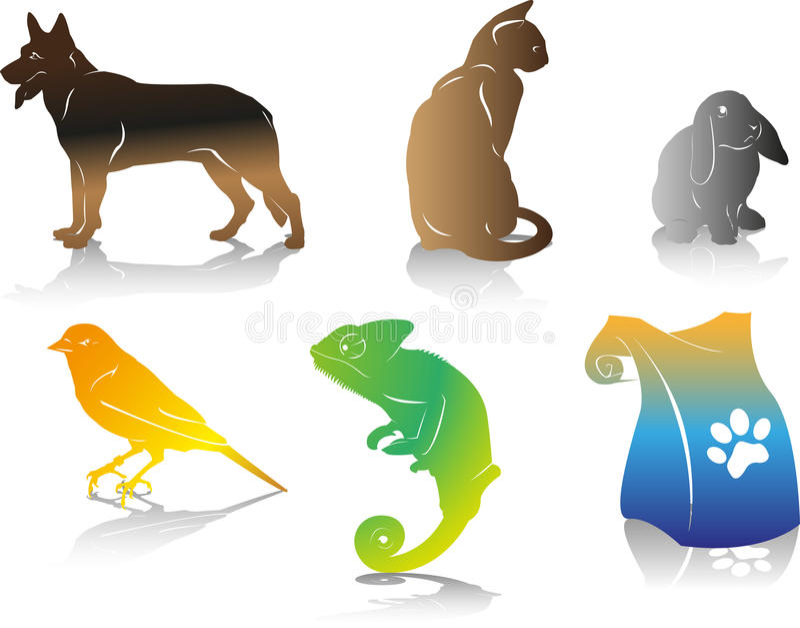 Huisdieren royalty-vrije stock afbeelding