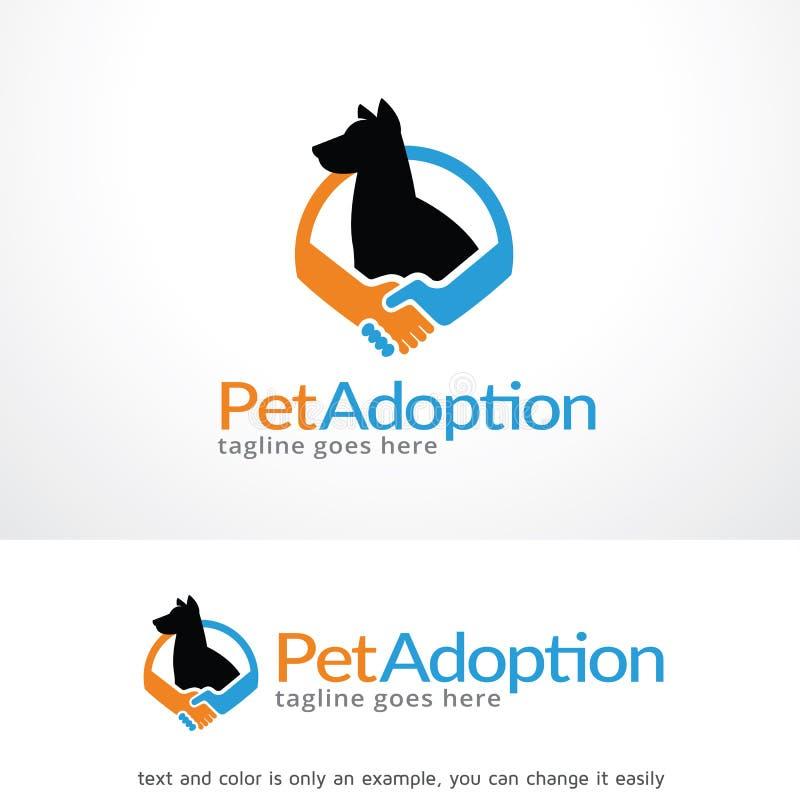 Huisdierengoedkeuring Logo Template Design Vector royalty-vrije illustratie