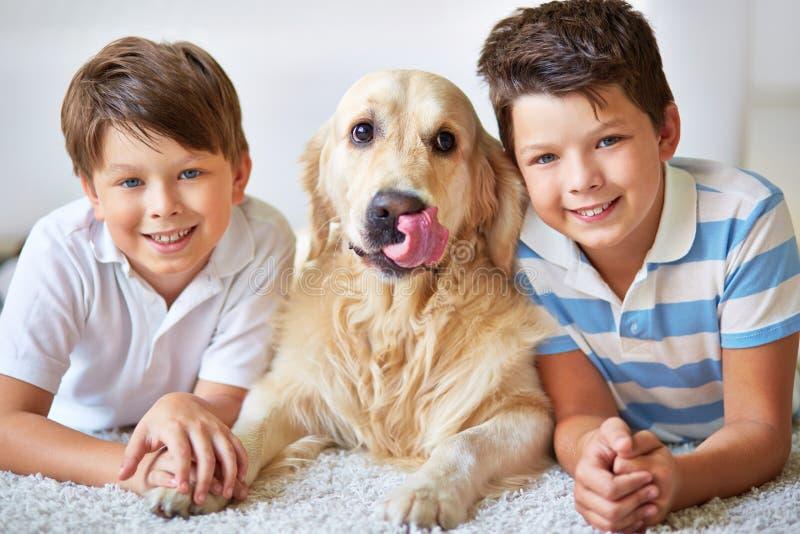 Huisdierenminnaars stock foto's