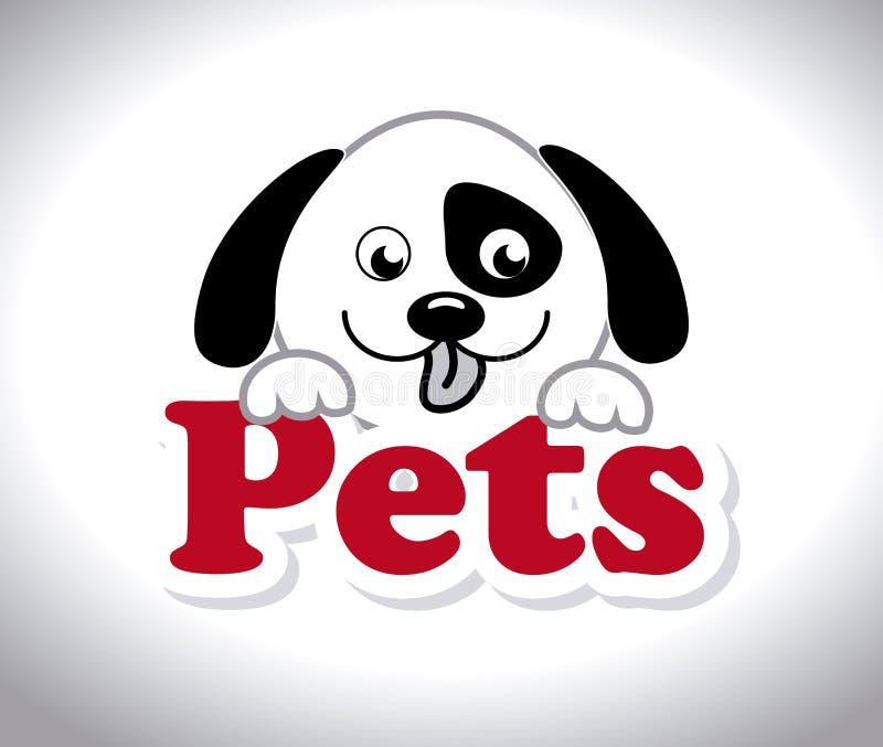 Huisdierenontwerp, vectorillustratie royalty-vrije illustratie
