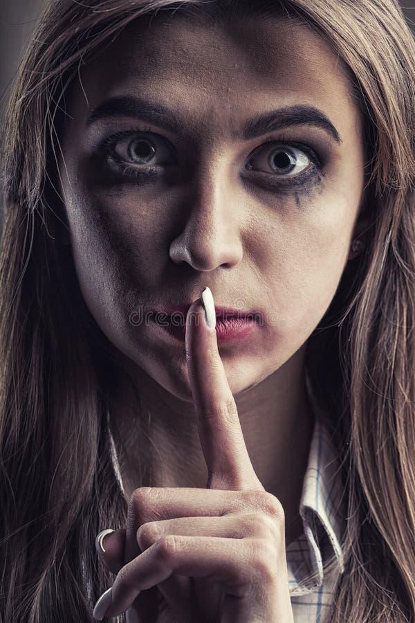 Huiselijk geweldconcept royalty-vrije stock foto's