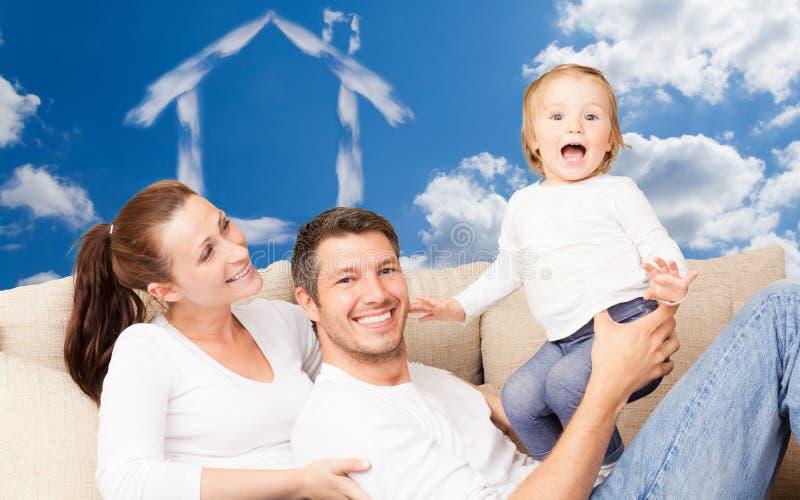 Huisfamilie royalty-vrije stock fotografie