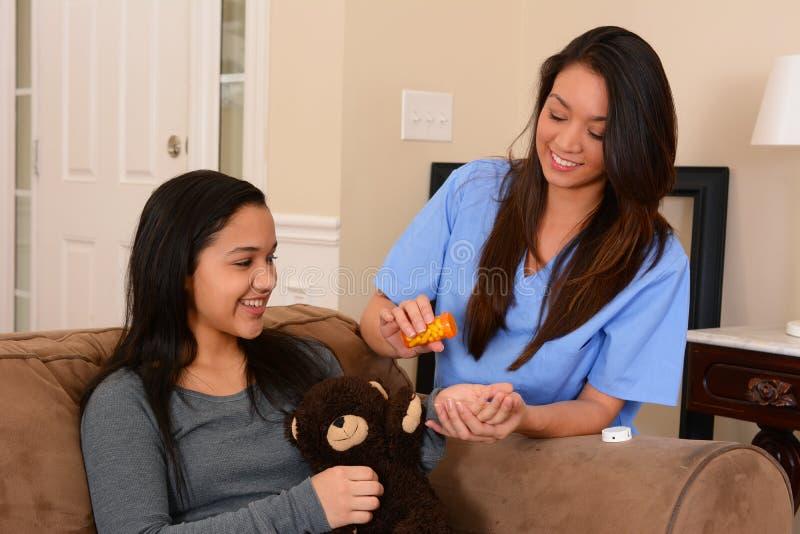 Huisgezondheidszorg stock foto