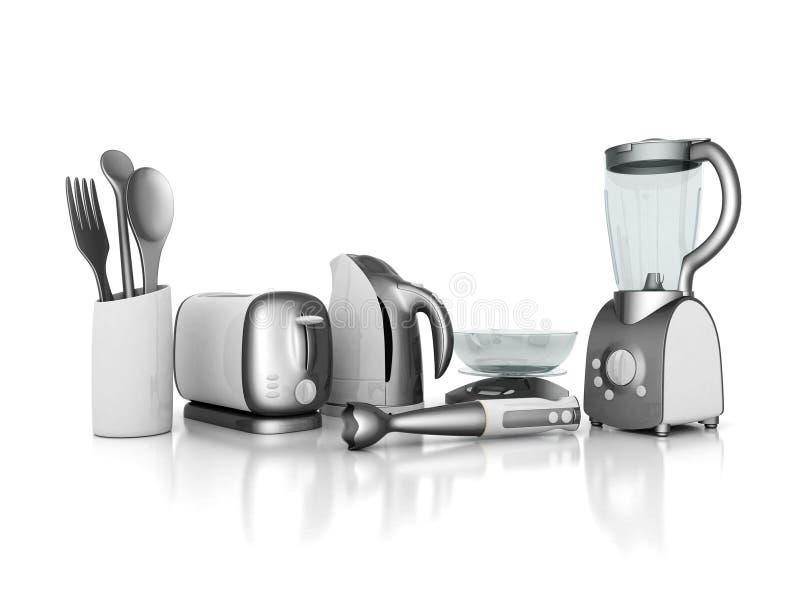 Huishoudapparaten stock illustratie