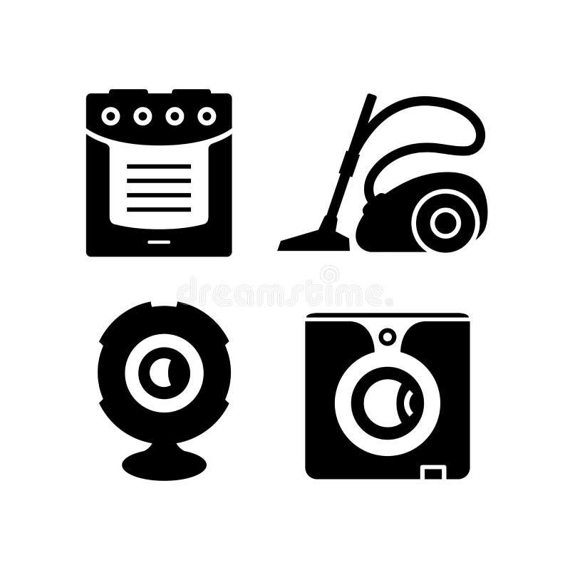 Huishoudapparaten Vectorpictogrammen royalty-vrije stock fotografie