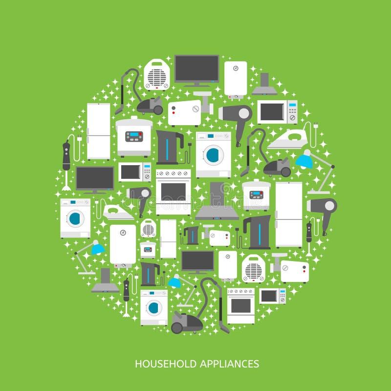 Download Huishoudapparaten Vlakke Pictogrammen Vector Illustratie - Illustratie bestaande uit molen, zaken: 54082523