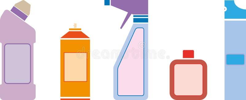 Huishoudenchemische producten royalty-vrije illustratie