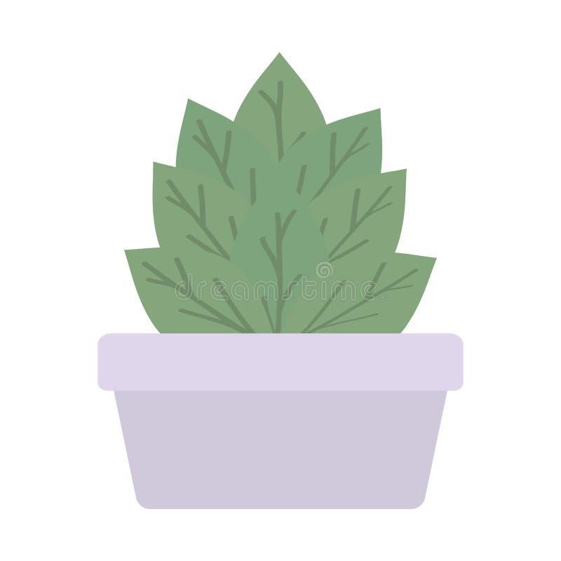 Huisinstallatie in vierkante ceramische pot vector illustratie
