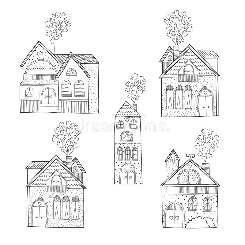 Huisinzameling vector illustratie