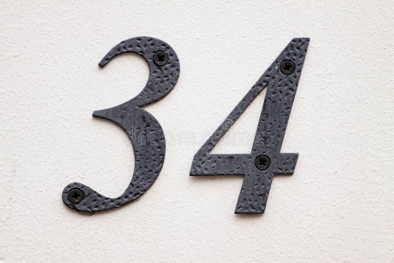 Huisnummer royalty-vrije stock afbeeldingen