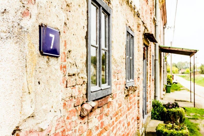 Huisnummer 7 royalty-vrije stock afbeelding