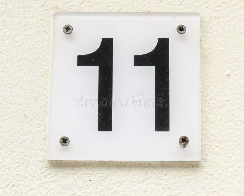 Huisnummer 11 stock fotografie