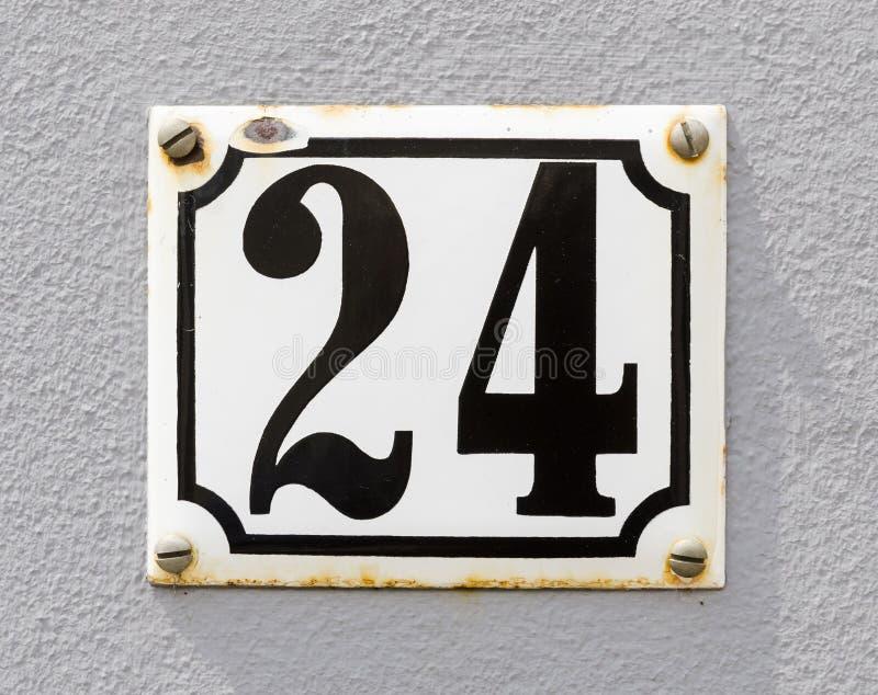 Huisnummer 24 stock fotografie