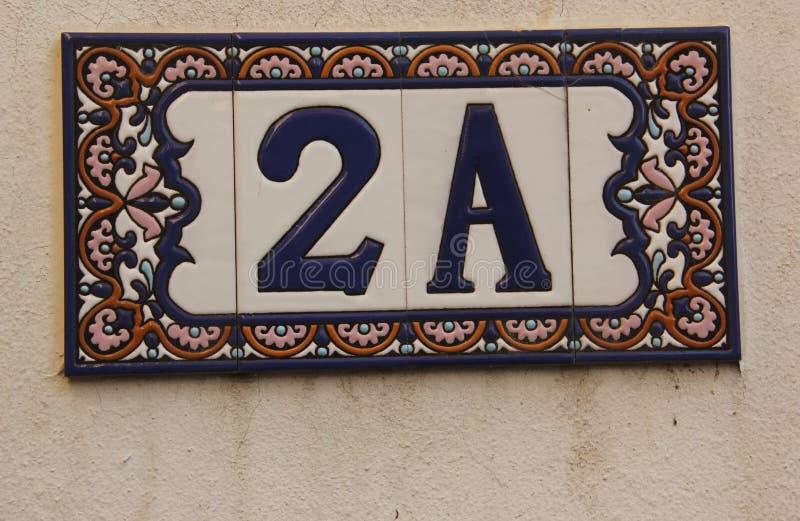 Huisnummer 2 A royalty-vrije stock foto