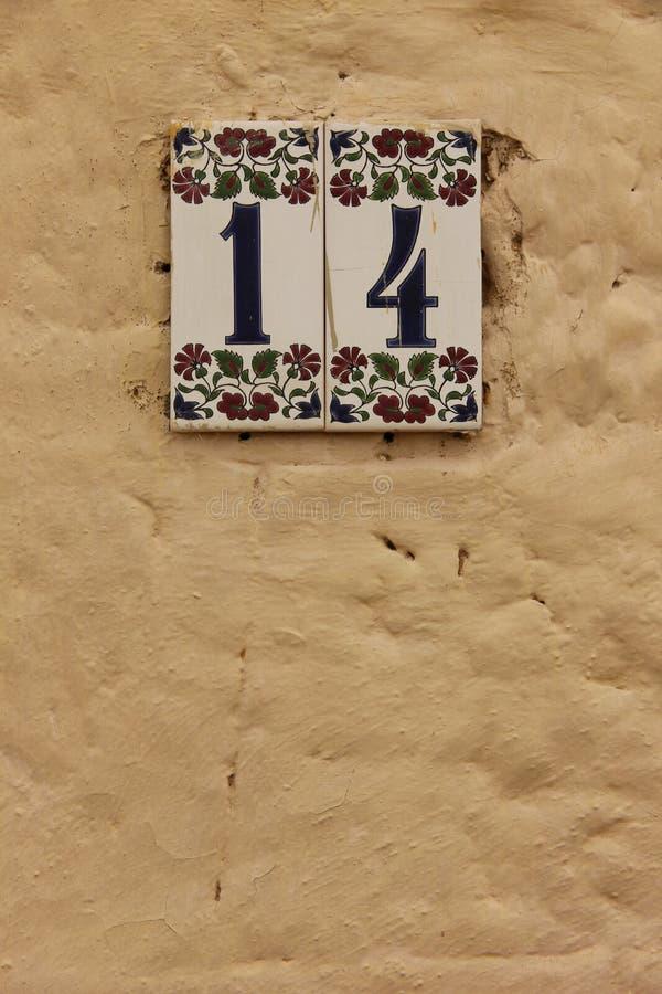 Huisnummer 14 stock foto's