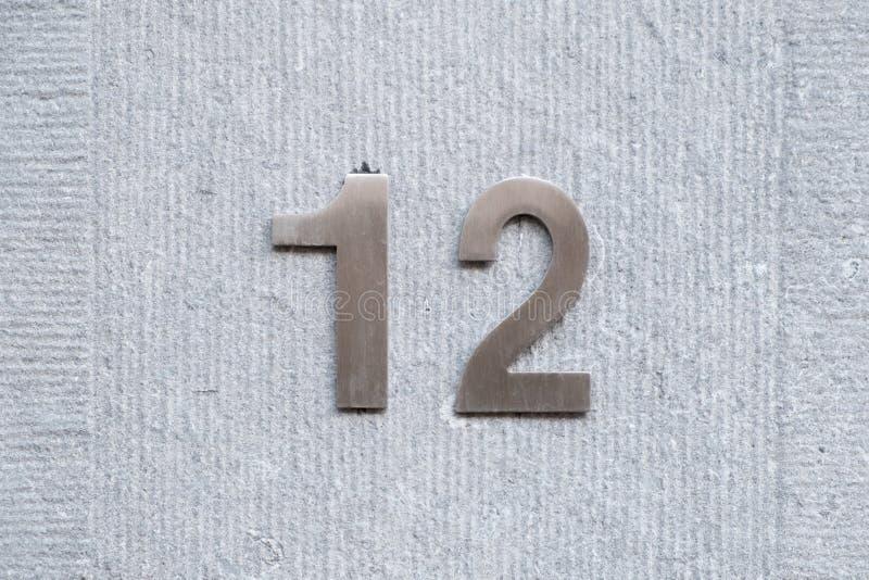 Huisnummer 12 stock afbeelding