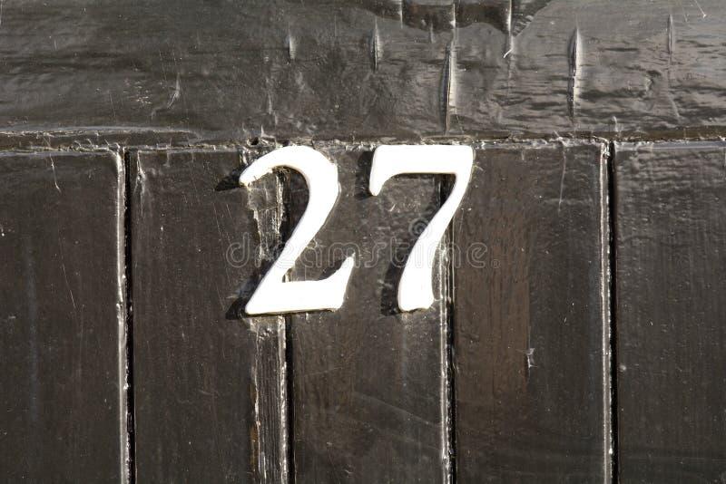Huisnummer 27 teken stock foto's