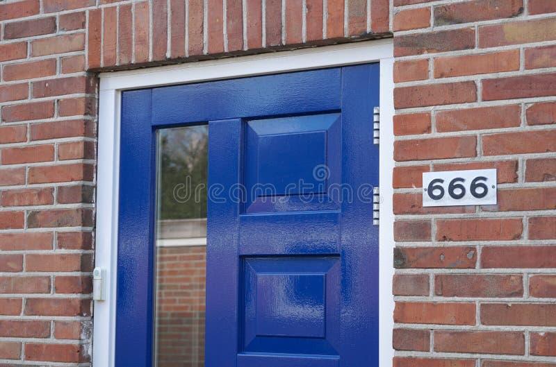 Huisnummer 666 royalty-vrije stock foto's