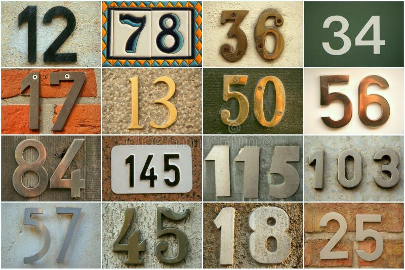 Huisnummers stock afbeelding