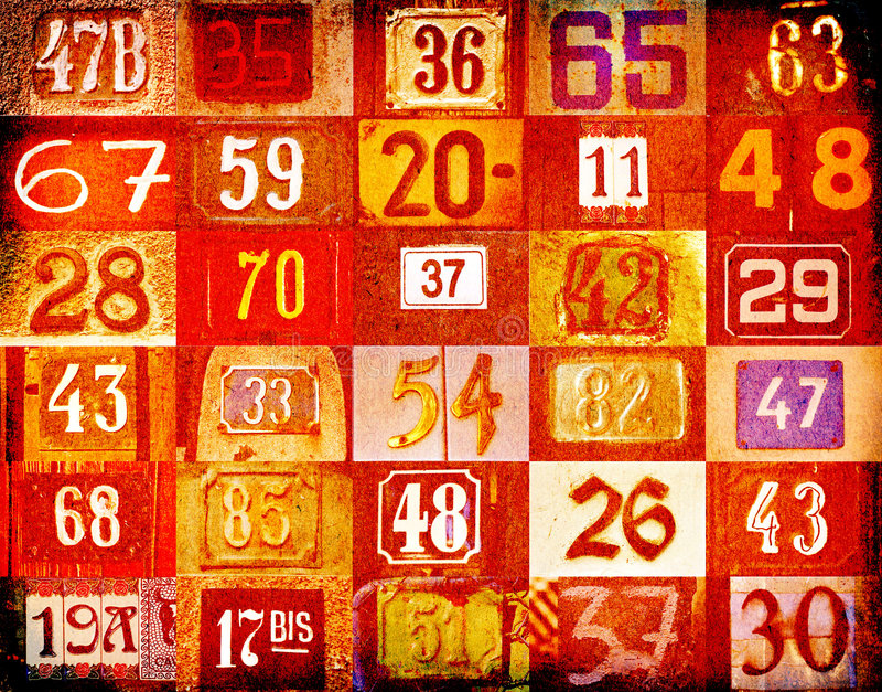 Huisnummers stock illustratie