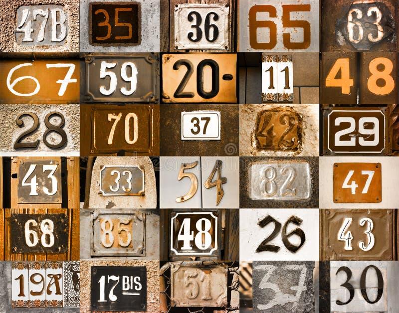 Huisnummers royalty-vrije illustratie