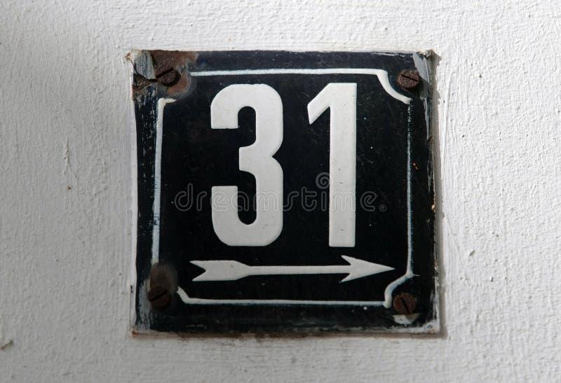 Huisnummers royalty-vrije stock afbeeldingen