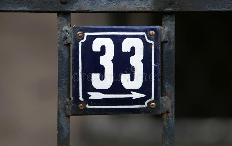Huisnummers stock fotografie