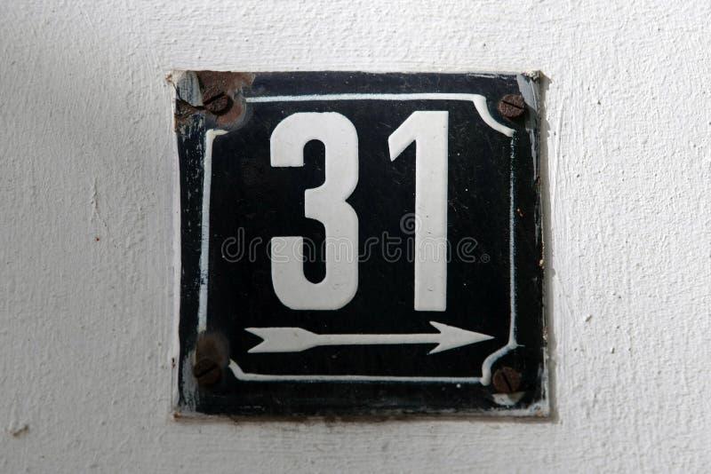 Huisnummers royalty-vrije stock afbeelding