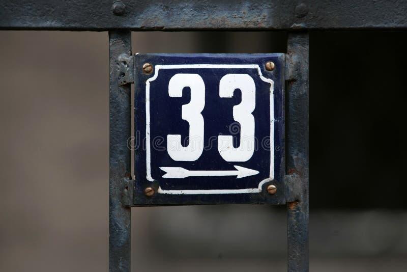 Huisnummers stock foto's