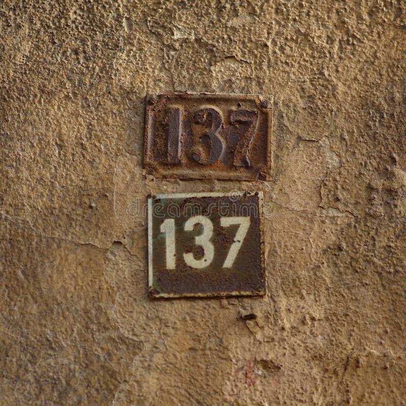 Huisnummers royalty-vrije stock foto's