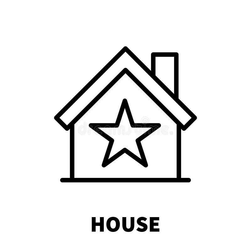 Huispictogram of embleem in moderne lijnstijl vector illustratie