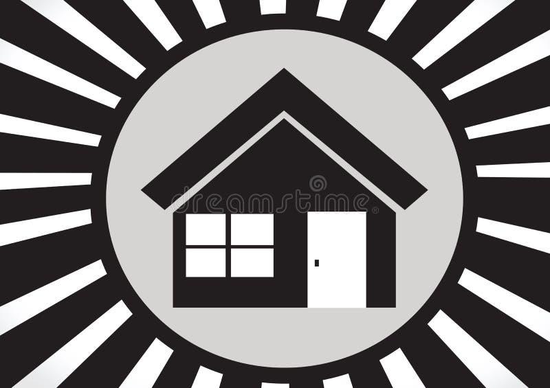 Huispictogram en Onroerende goederenconcept royalty-vrije illustratie