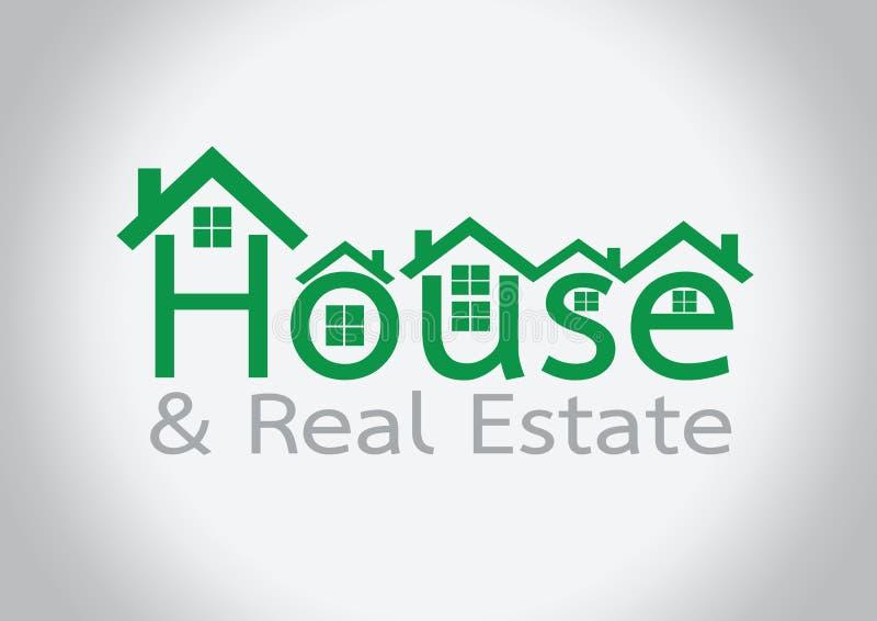 Huispictogram en Real Estate die abstract ontwerp bouwen vector illustratie