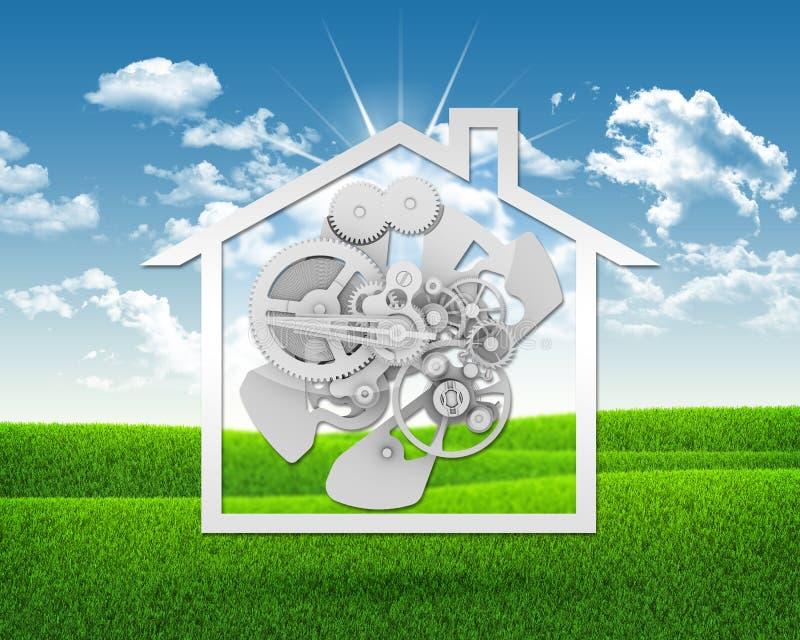 Huispictogram met toestellen vector illustratie