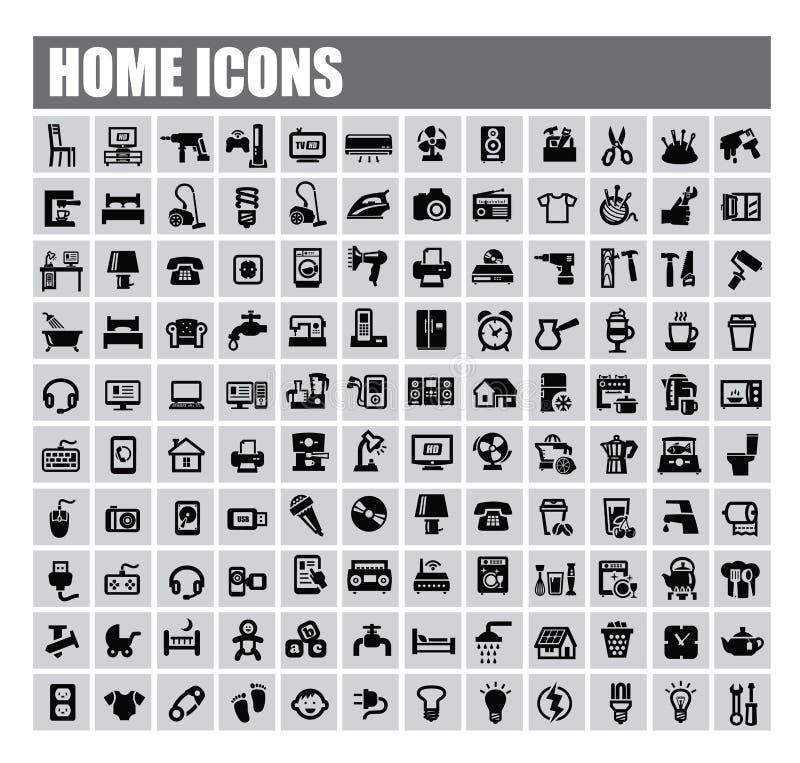 Huispictogrammen vector illustratie