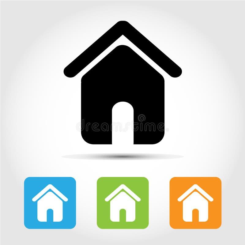 Huispictogrammen geplaatst voor om het even welk gebruik groot Vector eps10 vector illustratie