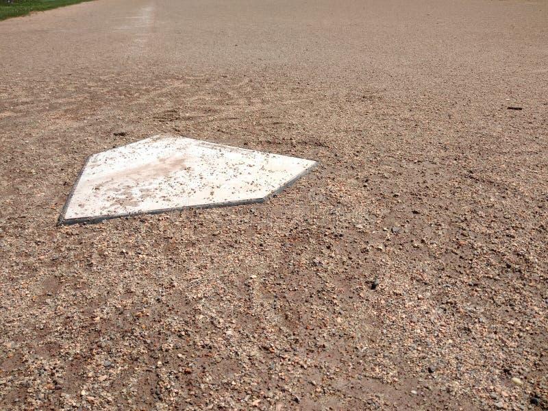 Huisplaat, Honkbal Diamond Infield stock foto