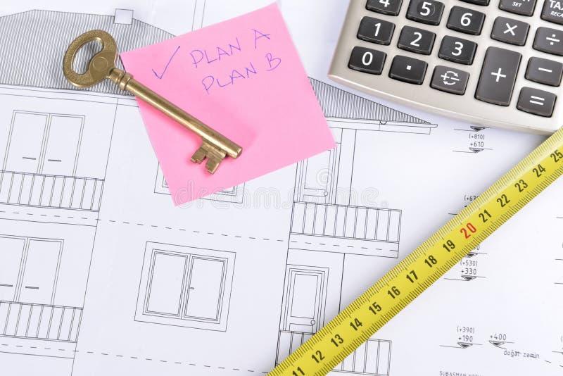 Huisplan stock afbeeldingen