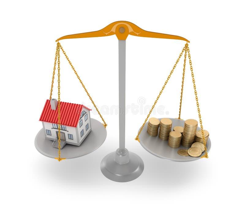 Huisprijs stock illustratie
