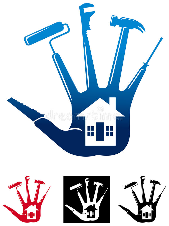 Huisreparatie vector illustratie