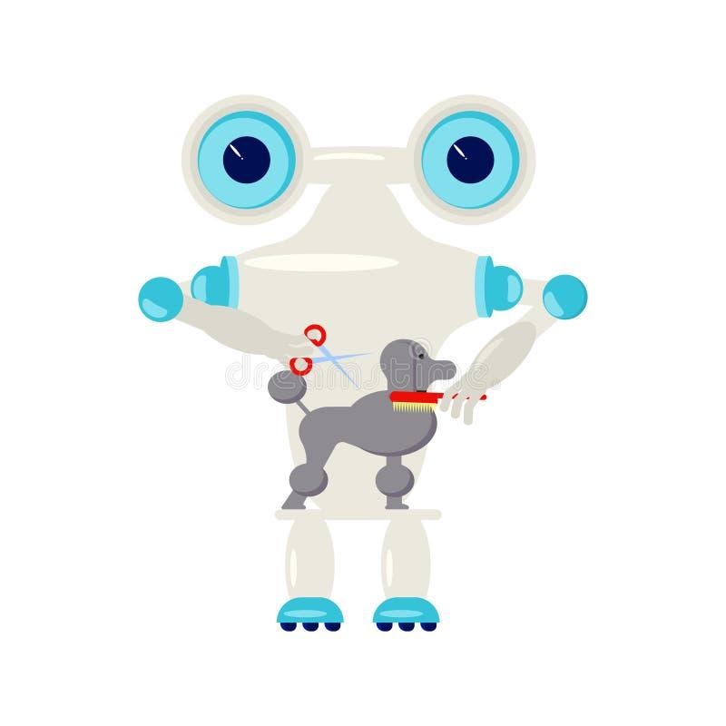 Robot het koken stock illustratie. Illustratie bestaande uit