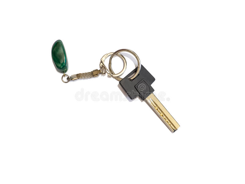 Huissleutel met sleutelring en FOB stock fotografie