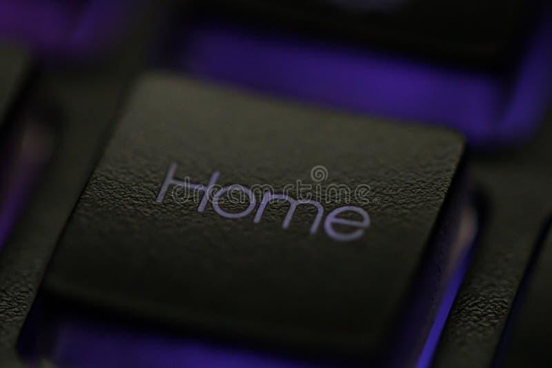 Download Huissleutel op toetsenbord stock foto. Afbeelding bestaande uit close - 107704752